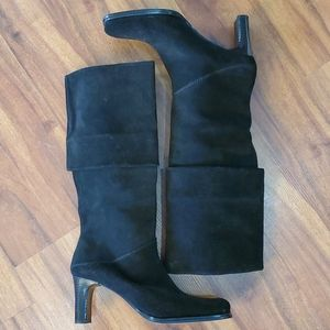 Pelle Moda Black Leather Suede Boots